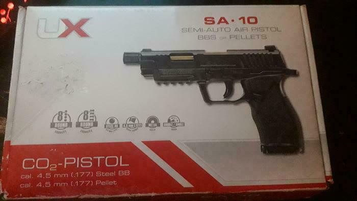 Airsoft pistol UMAREX SA 10 BLOWBACK system speed 130 m