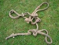 It is selling a rope knitted with ox's leather made at the end of the XVII century. It is a unique exhibit model.