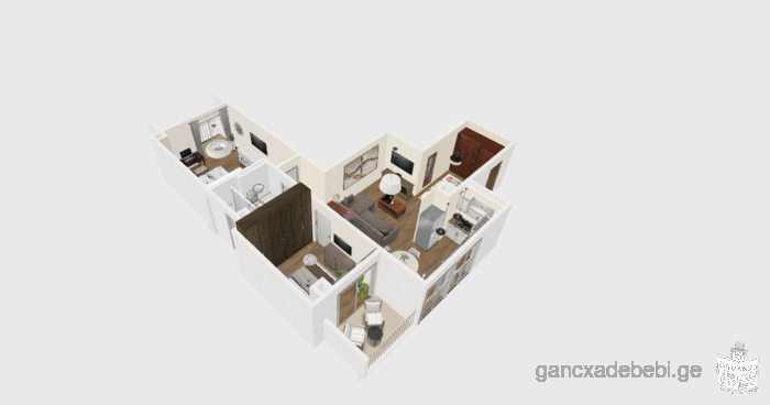 New finished flat in Krtsanisi (ortachala) Gorgasali Turn 5