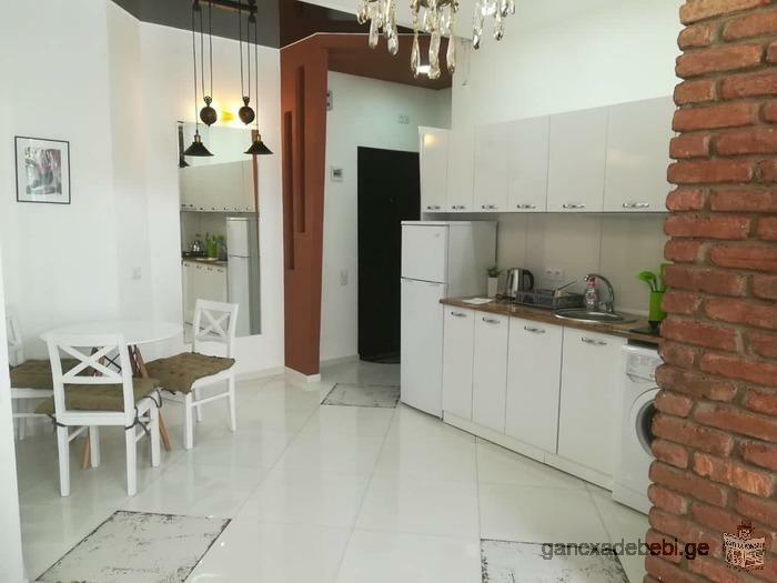 Two-room apartment for rent on S.Tsintsadze street, in new renovation, in new building