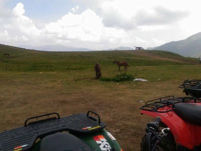 beautiful nature, Caucasus mountains, horses and quads on rent, near Guaduri