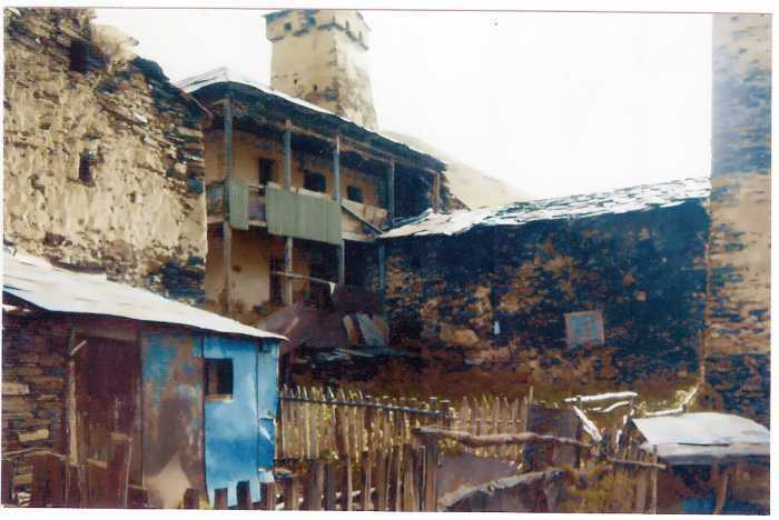 for sale upper Svaneti 2 stears house .in villige