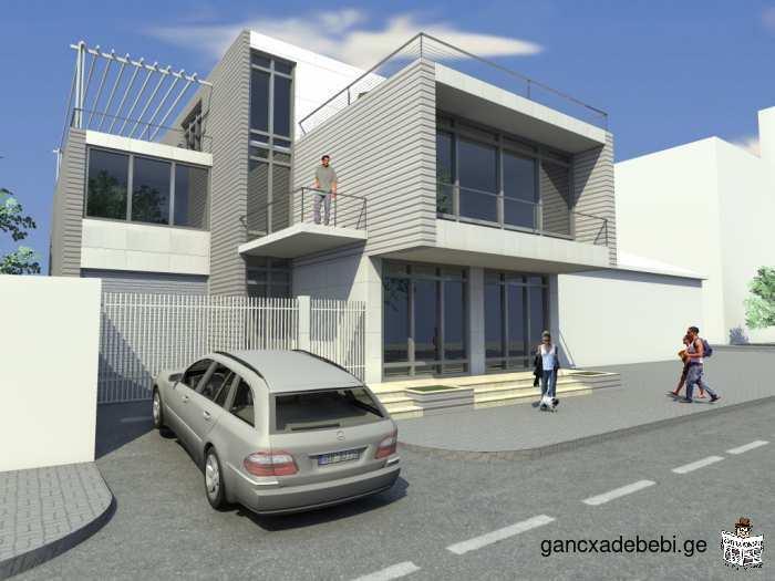 La création architecturale, la construction, la décoration intérieure