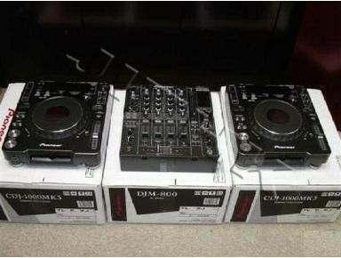 Véritable Brand New 2x PIONEER CDJ 2000MK3 & 1x-DJM-800 MIXER DJ PACKAGE Disponible en stock