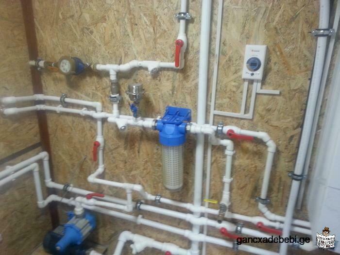 გათბობა(თბილი პოლი) წყლის სისტემები