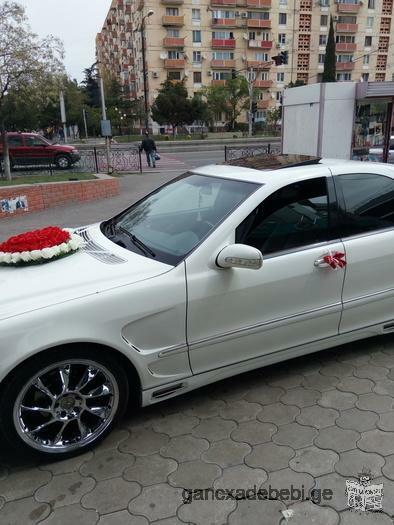 ვაქირავებ მანქანას ქორწილისთვის