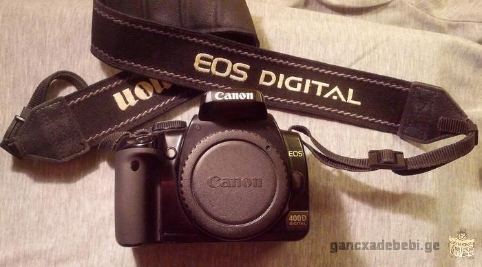 იყიდება აპარატი Сanon 400D, და ლინზა Canon EF-S 18-200 Lens