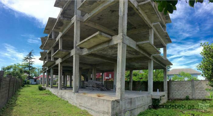იყიდება მრავალფუნქციური შენობა-ნაგებობის შავი კარკასი(მონოლითი)