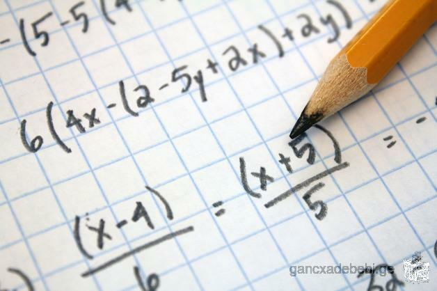 მოვამზადებ მათემატიკასა და/ან ფიზიკაში /Tutoring in maths and physics