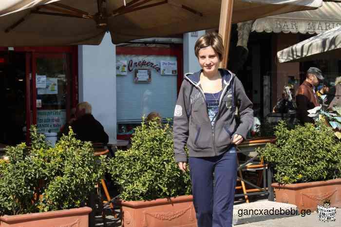 ძიძა იტალიური,ესპანური,ინგლისური და გერმანული ენების მასწავლებელი.სასურველ ევროპულ ენას თქვენ ირჩევ