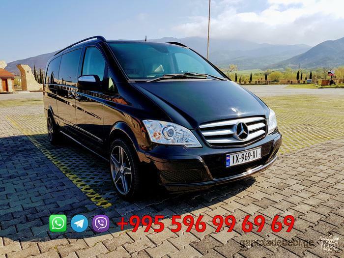 VIP ბიზნეს კლასის მინივენით მომსახურება Mercedes-Benz Viano, Ambiente (2012)