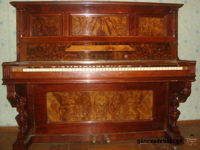 antikvari, germanuli pianino, 1870 clis