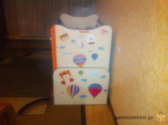 Продается детская кроватка и стульчик, б/у 6 месяцев