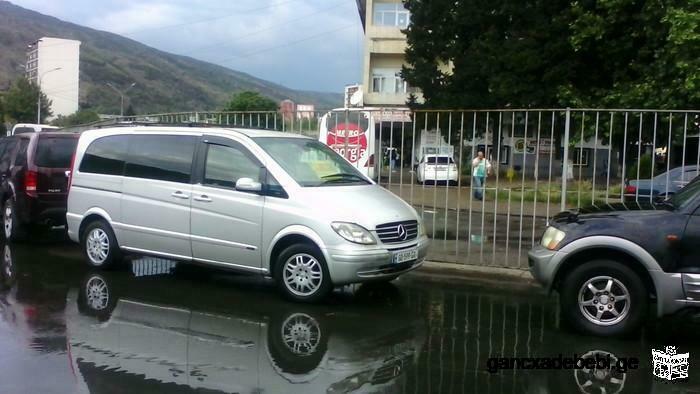 Путешествуя безопасно и комфортно, Mercedes Viano 8-местный, Он может быть размещен в отеле, дома.